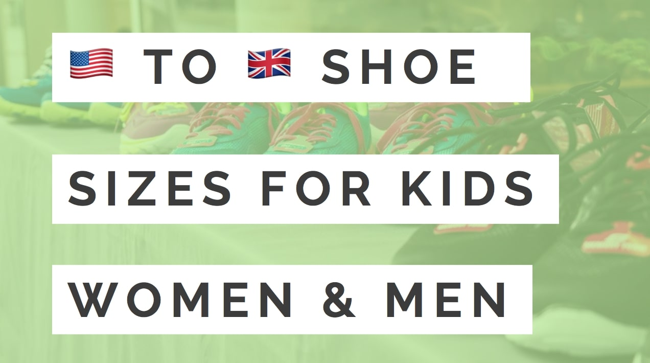 Us To Uk Shoe Size Conversion Chart Kids Womens Mens