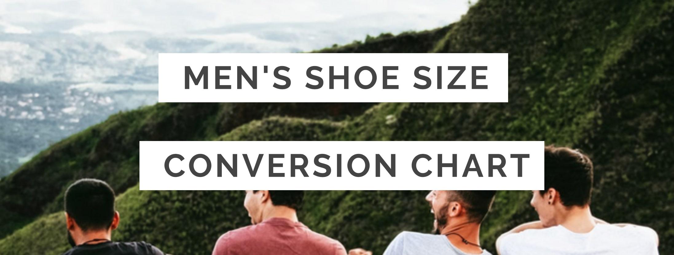 Men S Shoe Size Conversion Chart Us Uk Eu Au Ind Feetseek
